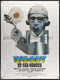 1c899 SLEEPER French 1p 1974 completely different wacky art of Woody Allen by Jouineau Bourduge!