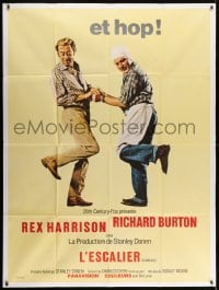 1c915 STAIRCASE French 1p 1969 Stanley Donen, Rex Harrison & Richard Burton in a sad gay story!