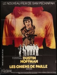 1c920 STRAW DOGS French 1p 1972 Peckinpah, different art of Hoffman & Susan George by Ferracci!