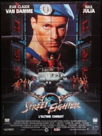 1c921 STREET FIGHTER French 1p 1994 Jean-Claude Van Damme, based on the Capcom arcade game!