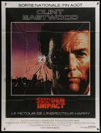 1c924 SUDDEN IMPACT French 1p 1983 Clint Eastwood is at it again as Dirty Harry, great image!