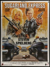 1c925 SUGARLAND EXPRESS French 1p R1980s Steven Spielberg, Goldie Hawn, cool different Sator art!