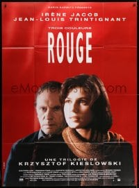 1c943 THREE COLORS: RED French 1p 1994 Kieslowski's Trois couleurs: Rouge, Irene Jacob, Trintignant