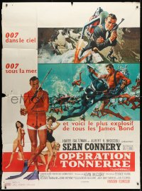 1c944 THUNDERBALL French 1p 1965 McGinnis & McCarthy art of Sean Connery as James Bond 007!
