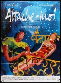 1c947 TIE ME UP! TIE ME DOWN! French 1p 1990 Pedro Almodovar's Atame!, art by Bielikoff & Delhomme!
