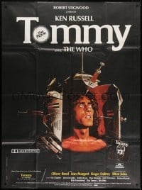 1c950 TOMMY French 1p 1975 The Who, Roger Daltrey, wild different image by Roger Boumendil!