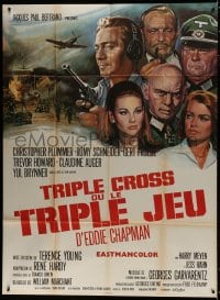 1c955 TRIPLE CROSS French 1p 1967 directed by Terence Young, different cast montage art!