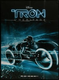 1c957 TRON LEGACY teaser French 1p 2011 great different close up image of light cycle!