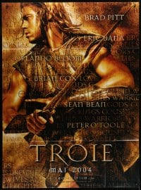 1c958 TROY teaser French 1p 2004 directed by Wolfgang Petersen, Brad Pitt as Achilles!