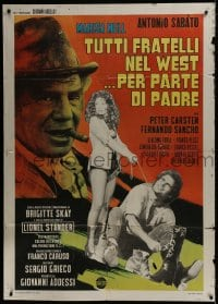 1c182 ALL THE BROTHERS OF THE WEST SUPPORT THEIR FATHER Italian 1p 1972 Sabato, spaghetti western!