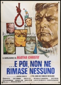 1c185 AND THEN THERE WERE NONE Italian 1p 1975 Oliver Reed, Elke Sommer, great art by Avelli!