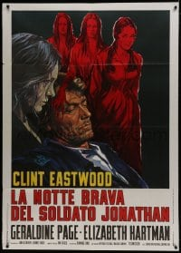 1c193 BEGUILED Italian 1p 1971 different art of Clint Eastwood & Geraldine Page, Don Siegel