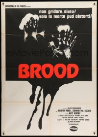 1c204 BROOD Italian 1p 1979 David Cronenberg, art of monster in embryo, they're waiting for YOU!
