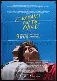 1c209 CALL ME BY YOUR NAME Italian 1p 2018 Hammer, Chalamet, gay homosexual romantic melodrama!