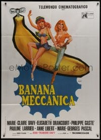 1c217 CLOCKWORK BANANA Italian 1p 1972 wacky sex spoof, Aller art of sexy girls on giant banana!