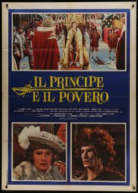1c222 CROSSED SWORDS Italian 1p 1977 Mark Lester, Prince & the Pauper, different images!