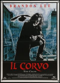1c223 CROW Italian 1p 1994 different close up of Brandon Lee in his final movie!