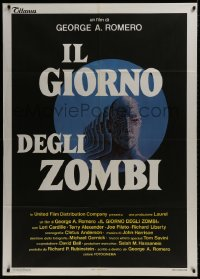 1c226 DAY OF THE DEAD Italian 1p 1986 George Romero's Night of the Living Dead zombie horror sequel!