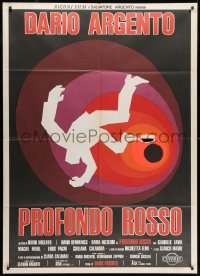1c229 DEEP RED Italian 1p 1975 Dario Argento's Profondo Rosso, different artwork by Sandro Symeoni!