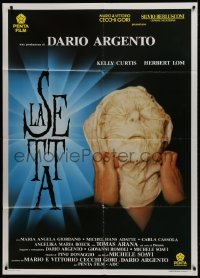 1c234 DEVIL'S DAUGHTER Italian 1p 1991 Dario Argento's La Setta, wild image of suffocating man!