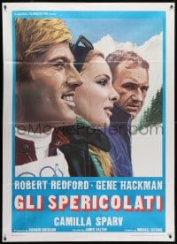 1c238 DOWNHILL RACER Italian 1p R1970s Robert Redford, Camilla Sparv, skiing, different!