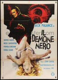 1c239 DRACULA Italian 1p 1974 art of vampire Jack Palance & his sexy near-naked blonde victim!