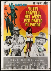 1c055 ALL THE BROTHERS OF THE WEST SUPPORT THEIR FATHER Italian 2p 1972 Sabato, spaghetti western!