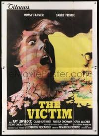 1c057 AUTOPSY Italian 2p 1977 horror that goes beyond the living dead, wild art, The Victim!