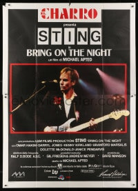 1c065 BRING ON THE NIGHT Italian 2p 1986 Sting performing with guitar, directed by Michael Apted!