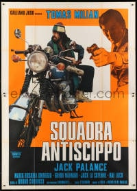 1c077 COP IN BLUE JEANS Italian 2p 1976 Squadra Antiscippo, Jack Palance, Tomas Milian w/motorcycle