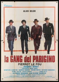 1c094 GANG Italian 2p 1977 Jacques Deray, great art of Alain Delon his gangster co-stars!