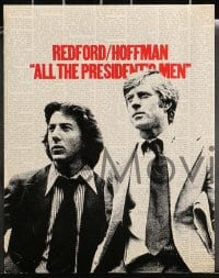 1d001 ALL THE PRESIDENT'S MEN 15 color 11x14 stills 1976 Hoffman & Redford as Woodward & Bernstein!