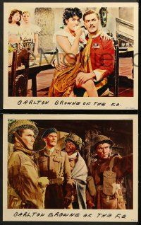 1d075 CARLTON-BROWNE OF THE F.O. 8 English LCs 1959 great images of wacky Terry-Thomas and cast!