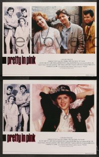 1d233 PRETTY IN PINK 8 English LCs 1986 great images of Molly Ringwald, Andrew McCarthy & Jon Cryer!