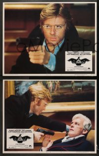1d022 3 DAYS OF THE CONDOR 8 LCs 1975 analyst Robert Redford & Faye Dunaway, Sidney Pollack!