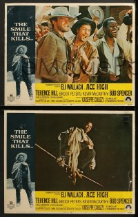1d025 ACE HIGH 8 LCs 1969 Eli Wallach, Terence Hill, Brock Peters, spaghetti western!