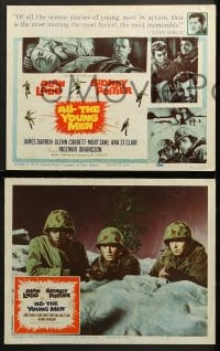1d031 ALL THE YOUNG MEN 8 LCs 1960 Alan Ladd & Sidney Poitier deal with race relations in Korean War