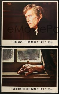 1d035 AND NOW THE SCREAMING STARTS 8 LCs 1973 Peter Cushing, Beacham, Roy Ward Baker, horror!