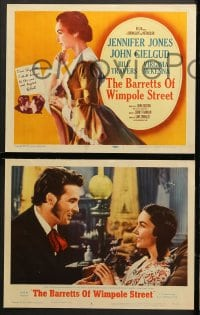 1d045 BARRETTS OF WIMPOLE STREET 8 LCs 1957 great images of Jennifer Jones as Elizabeth Browning!