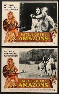 1d047 BATTLE OF THE AMAZONS 8 LCs 1973 sexy barely-dressed female warrior Lucretia Love!