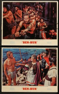 1d052 BEN-HUR 8 LCs R1969 Charlton Heston, William Wyler classic religious epic, chariot art!