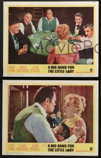 1d054 BIG HAND FOR THE LITTLE LADY 8 LCs 1966 Henry Fonda, Joanne Woodward, wildest poker game!