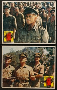 1d067 BRIDGE ON THE RIVER KWAI 8 LCs R1972 William Holden, Alec Guinness, David Lean WWII classic!