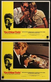 1d078 CAT O' NINE TAILS 8 LCs 1971 Dario Argento's Il Gatto a Nove Code, Karl Malden, Spaak!