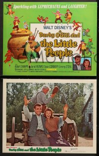 1d014 DARBY O'GILL & THE LITTLE PEOPLE 9 LCs R1969 Disney, Sean Connery, it's leprechaun magic!