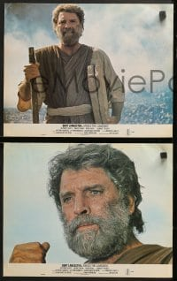 1d201 MOSES 8 int'l 11x14 stills 1976 Lancaster, a man of wisdom & strength crushed an empire!