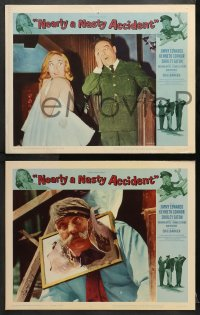 1d211 NEARLY A NASTY ACCIDENT 8 LCs 1962 sexy Shirley Eaton, Jimmy Edwards, Kenneth Connor