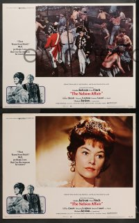 1d212 NELSON AFFAIR 8 LCs 1973 art of Glenda Jackson & Peter Finch, Bequest to the Nation!