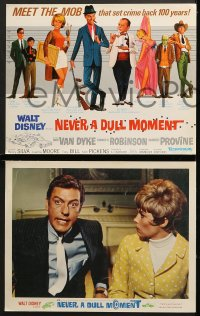 1d213 NEVER A DULL MOMENT 8 LCs 1968 Disney, Dick Van Dyke, Edward G. Robinson, Dorothy Provine!