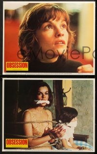 1d219 OBSESSION 8 LCs 1976 Brian De Palma, Paul Schrader, Genevieve Bujold, Cliff Robertson!